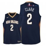 New Orleans Pelicans - Maillot Junior NBA Ian Clark 2 Marine Icon 2018