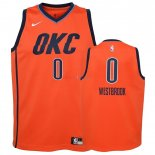 Oklahoma City Thunder - Maillot Junior NBA Russell Westbrook 0 Orange Earned Edition