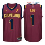 Cleveland Cavaliers - Maillot NBA Derrick Rose 1 Rouge 2017/2018