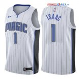 Orlando Magic - Maillot NBA Jonathan Isaac 1 Blanc Association 2017/2018