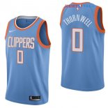 Los Angeles Clippers - Maillot NBA Sindarius Thornwell 0 Nike Bleu Ville 2017/2018