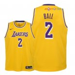 Los Angeles Lakers - Maillot Junior NBA Lonzo Ball 2 Jaune Icon 2018/2019