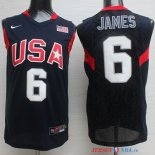2008 USA - Maillot NBA James 6 Noir