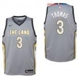 Cleveland Cavaliers - Maillot Junior NBA Isaiah Thomas 3 Nike Gris Ville