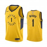 Indiana Pacers - Maillot NBA T.J. Warren Gray 1 Jaune Statement 2019-2020