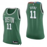 Boston Celtics - Maillot Femme NBA Kyrie Irving 11 Vert Icon 2017/2018