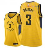 Indiana Pacers - Maillot NBA Aaron Holiday 3 Jaune Statement 2018