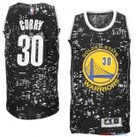 Golden State Warriors - Maillot NBA Curry 30 Noir Ville Lumières