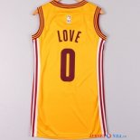 Cleveland Cavaliers - Maillot Femme NBA Kevin Love 0 Jaune