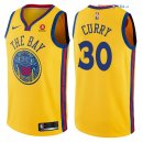 Golden State Warriors - Maillot NBA Stephen Curry 30 Jaune Ville 2017/2018