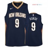 New Orleans Pelicans - Maillot Junior NBA Rajon Rondo 9 Marine Icon 2018