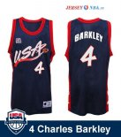 1996 USA - Maillot NBA Charles Barkley 4 Noir