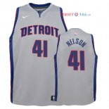 Detroit Pistons - Maillot Junior NBA Jameer Nelson 41 Gris Statement