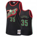 Seattle SuperSonics - Maillot NBA Kevin Durant 35 Noir 2018 Noël