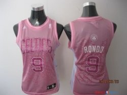 Boston Celtics - Maillot Femme NBA Rajon Rondo 9 Rose