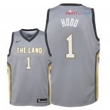 Cleveland Cavaliers - Maillot Junior NBA Rodney Hood 1 Nike Gris Ville 2018