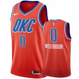 Oklahoma City Thunder-Maillot NBA Russell Westbrook 0 Orange 2019-20