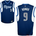 Dallas Mavericks - Maillot NBA Rajon Rondo 9 Bleu Profond