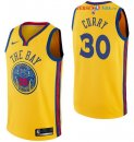 Golden State Warriors - Maillot NBA Stephen Curry 30 Nike Jaune Ville 2017/2018