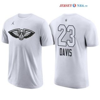 2018 All Star - Maillot NBA Anthony Davis 23 Blanc Manche Courte