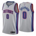 Detroit Pistons - Maillot NBA Andre Drummond 0 Gris Statement 2018
