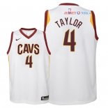 Cleveland Cavaliers - Maillot Junior NBA Isaiah Taylor 4 Blanc Association 2018