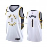 Indiana Pacers - Maillot NBA T.J. Warren Gray 1 Blanc Association 2019-2020