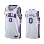 Philadelphia Sixers - Maillot NBA Josh Richardson 0 Blanc Association 2019-2020