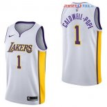 Los Angeles Lakers - Maillot NBA Kentavious Caldwell Pope 1 Blanc Association 2017/2018