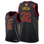 Cleveland Cavaliers - Maillot NBA Jeff Green 32 Noir Statement Patch 2018 Finales Champions