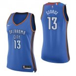 Oklahoma City Thunder - Maillot Femme NBA Paul George 13 Bleu Icon 2017/2018