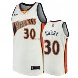 Golden State Warriors - Maillot NBA Stephen Curry 30 Blanc Throwback