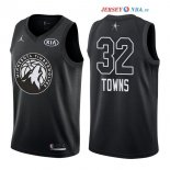 2018 All Star - Maillot NBA Karl Anthony Towns 32 Noir