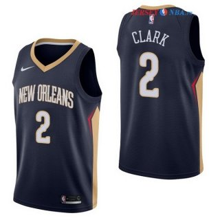New Orleans Pelicans - Maillot NBA Ian Clark 2 Marine Icon 2017/2018