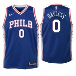 Philadelphia Sixers - Maillot Junior NBA Jerryd Bayless 0 Bleu Icon 2018