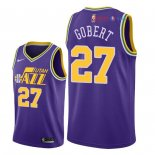 Utah Jazz - Maillot NBA Rudy Gobert 27 Retro Pourpre 2018