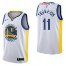 Golden State Warriors - Maillot NBA Klay Thompson 11 Blanc Association 2017/2018