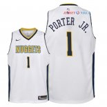 Denver Nuggets - Maillot Junior NBA Michael Porter Jr 1 Blanc Association 2018
