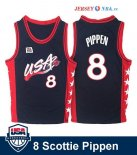 1996 USA - Maillot NBA Scottie Pippen 8 Noir