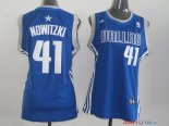 Dallas Mavericks - Maillot Femme NBA Dirk Nowitzki 41 Bleu