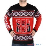 Chicago Bulls - NBA Unisex Ugly Sweater Rouge Noir