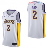 Los Angeles Lakers - Maillot Junior NBA Lonzo Ball 2 Blanc