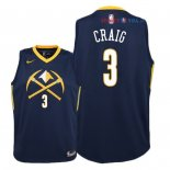 Denver Nuggets - Maillot Junior NBA Torrey Craig 3 Nike Marine Ville 2018