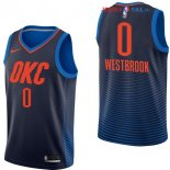 Oklahoma City Thunder - Maillot NBA Russell Westbrook 0 Marine Statement 2017/2018