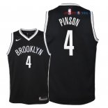 Brooklyn Nets - Maillot Junior NBA Theo Pinson 4 Noir Icon 2018