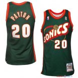 Seattle Supersonics - Maillot NBA Gary Payton 20 Retro Vert