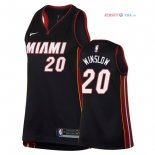 Miami Heat - Maillot Femme NBA Justise Winslow 20 Noir Icon 2018