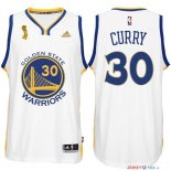 Golden State Warriors - Maillot NBA Curry 30 Blanc 2015 Finales Champions