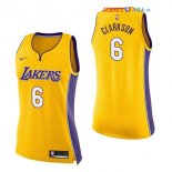 Los Angeles Lakers - Maillot Femme NBA Jordan Clarkson 6 Jaune Icon 2017/2018