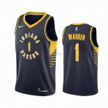 Indiana Pacers - Maillot NBA T.J. Warren Gray 1 Marine Icon 2019-2020